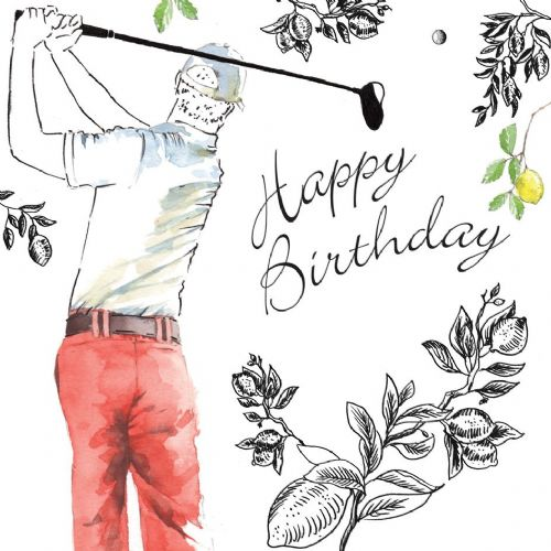 NES53 – Happy Birthday Card Golf
